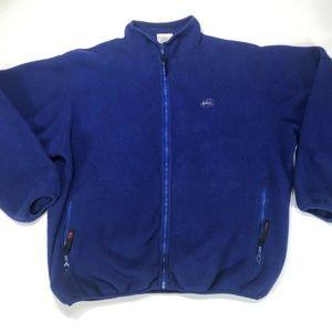 Rei Mens Blue Fleece Jacket Hiking Ski Full Zip
